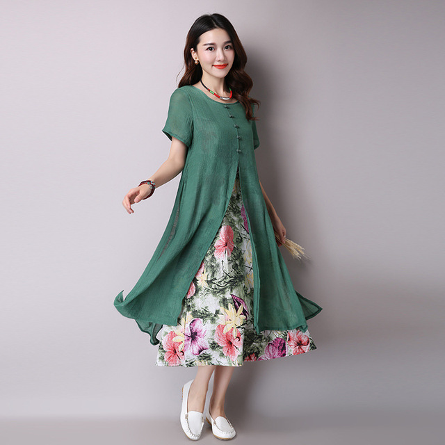 9d14f8ca047 Maternity Clothing Summer Plus Size Women Lotus Long Pregnant Dress Cotton  Linen Two Pieces Dresses for
