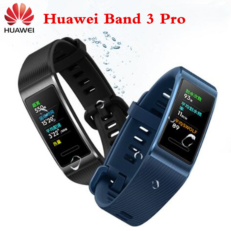 Original Huawei Band 3 Pro Band 3 Smart Band Bracelet band3 0 95 inch Swimming Waterproof