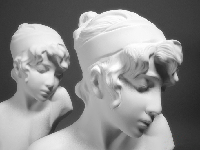 Girl Head 3D Model STL Formate File CNC Computer Carving Relief Sculpture Statue