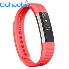 Ouhaobin 140-170mm Soft Silicone Watch band Wrist strap For Fitbit Alta Smart Watch Gift Sep 21