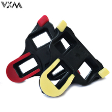 VXM Bicycle Pedal 6 degree float 2 x Bike Self-locking Pedal Cleats Set Yellow For Shimano SM-SH11 SPD-SL Bicycle Parts 2 Colors