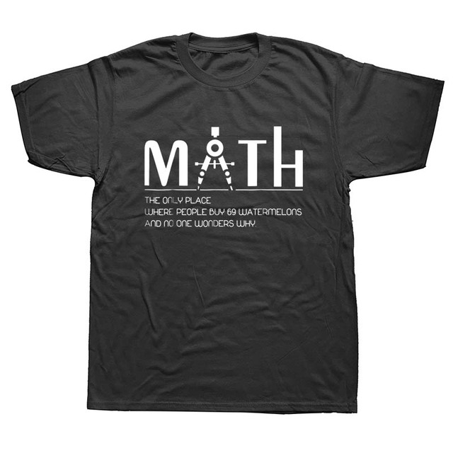 8a494a1c44 Funny Math Teacher T-shirt Printed Cotton Men Short Sleeve Tees Top Tee  Print Short Sleeve T Shirt