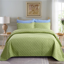 Luxury Green Purple Brown Blue European 100% Cotton Comfortable Bedspread Bed Sheet Linen Cover Summer Quilt Pillowcases