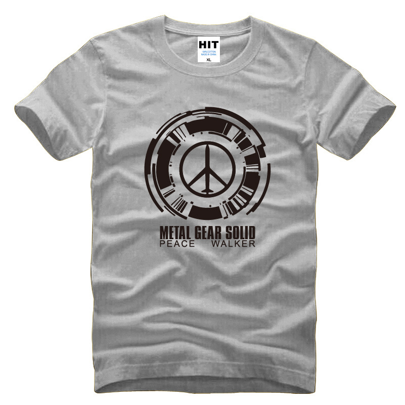 Metal gear solid peace walker printed mens men t shirt for Printed t shirts mens fashion