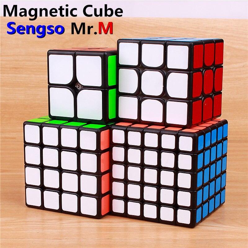 Sengso Mr.M 3x3x3 magnetic magic cube stickers 2x2x2 pocket puzzle cubes professional 4x4x4 5x5x5 magnets speed cubes toys
