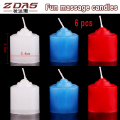 6 pcs skin care romantic fun low temperature candle Low interest candles massage passion games Beauty health lighting Flirting