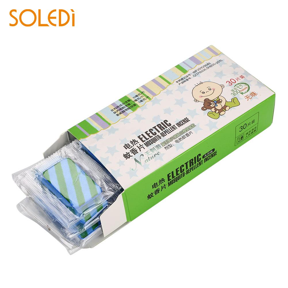 Safety Mosquito Repellent Tablet Pest Repeller Repellent Tablets Convenient 30PCS 3.5*2.2*0.2cm Sleep Moths Home Flies
