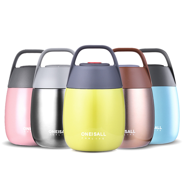 450ml Insulated Food Container Thermal Bottle for Food Soup Thermos Food Flask Thermos  with Bag spoon Vacuum flask