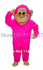 mascot Pink Chimp Mascot Costume Cartoon Character carnival costume fancy Costume party