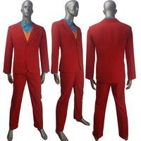 New Joker 2019 Film Gotham Arthur Fleck Joker Joaquin Phoenix coat cosplay jacket Batman halloween carnival costume