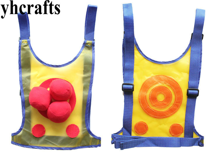 1SET/LOT,Sticky target ball waistcoat,Sports toys,Novelty educational toys,Parent-child games, Interaction games.Kingergarten