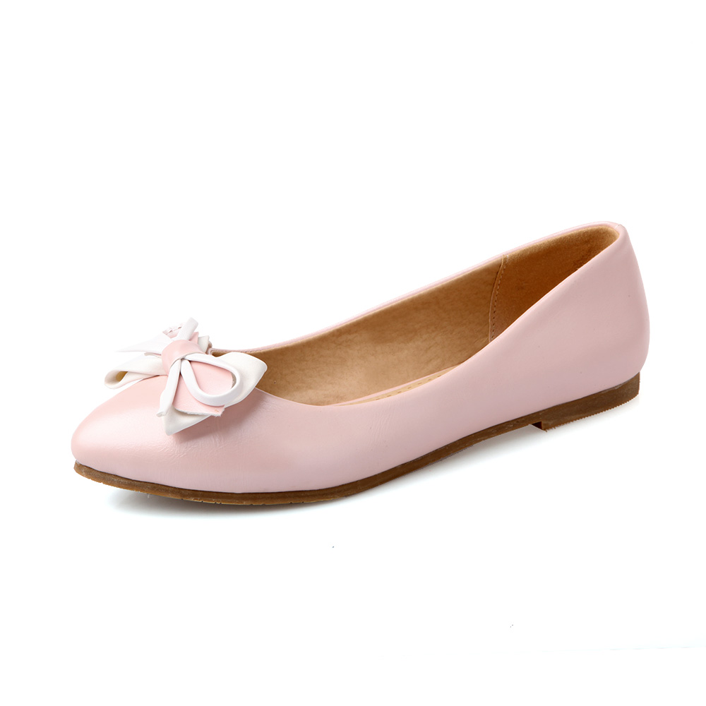 shoes summer new fashion flats white pink