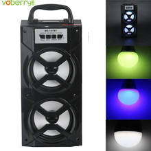 VOBERRY MS – 147BT Wireless Bluetooth Speaker Portable MP3 FM Radio Music Player Subwoofer With LED Shinning USB AUX TF Card