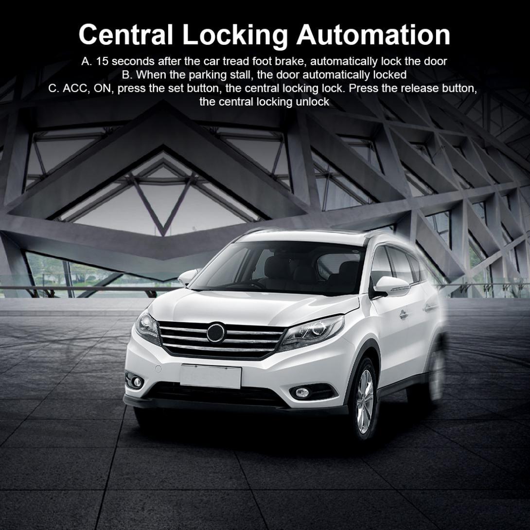 Alarme Auto voiture Kit Central à distance démarrage arrêt système moteur verrouillage Central véhicule sans clé entrée 5A avec clé 2 système antivol - 6