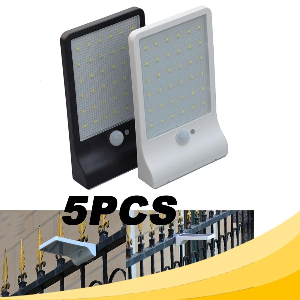ᑎ‰5 PCS 36LED Capteur Solaire Mur Lampe Extérieure D urgence