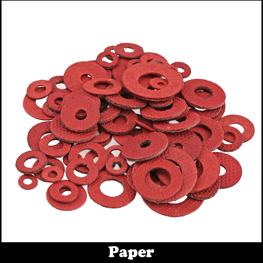 M3 M3*10*1 M3x10x1 M3*12*0.5 M3x12x0.5 M3*12*0.8 M3x12x0.8 DIN7603 Insulation Gasket Shim Crush Ring Seal Red Steel Paper Washer 1000pcs to 220 insulation tablets circle m3 transistor pads bushing to 220 plastic insulation washer