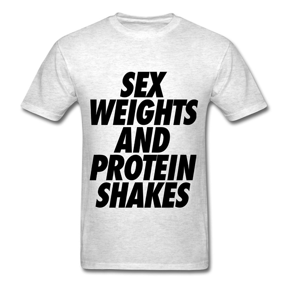Design A Shirt Short Crew Neck Sex Weights And Protein Shakes Best Friend Mens Shirts