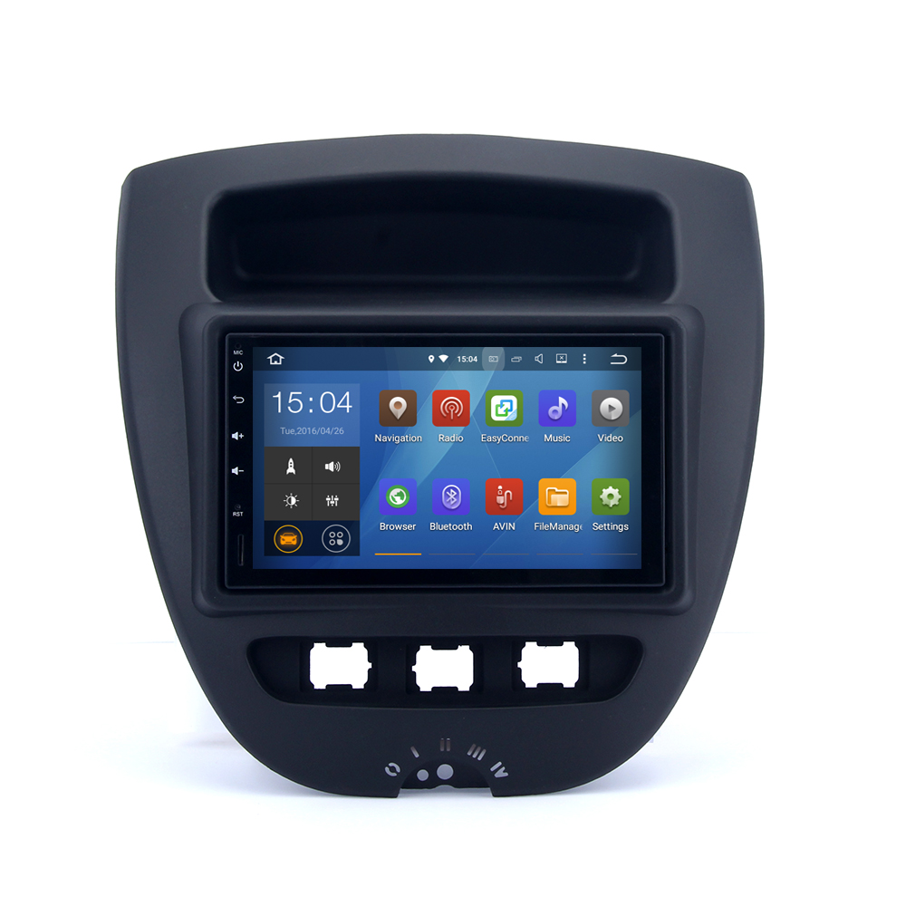 RK3066 Android 4 4 4 Car GPS Radio for Citroen C1 Toyota Aygo Peugeot 107 1024