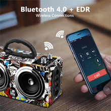 Graffiti Wooden Bluetooth Speaker