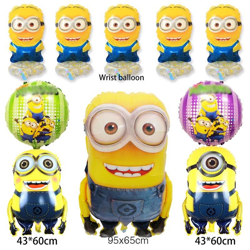 (10 шт./лот) смешанный различных приспешников воздушные шары в том числе 95*65 см Размеры Миньоны и запястья шары для день рождения шары
