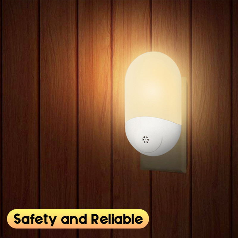 Smuxi AC 100-240V LED PIR Motion Sensor Smart Night Light For Bathroom Home Lamp Lighting Bulb US UK EU Plug Warm White