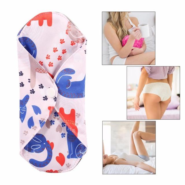 NEW Reusable Charcoal Bamboo Cloth Menstrual Pads Washable Sanitary Towel Panty Washable Sanitary Towel  menstrual pads