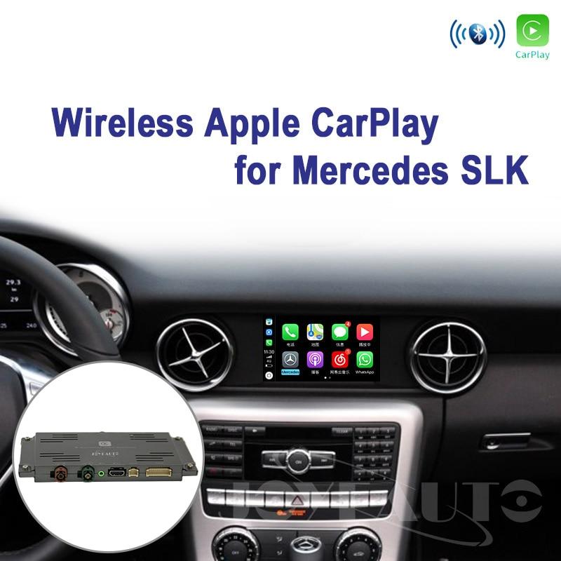 Joyeauto sans fil Wifi Apple Carplay pour Mercedes SLK classe 2011-2015 NTG4.5/NTG4.7 Apple voiture jouer Support caméra de vue arrière Waze