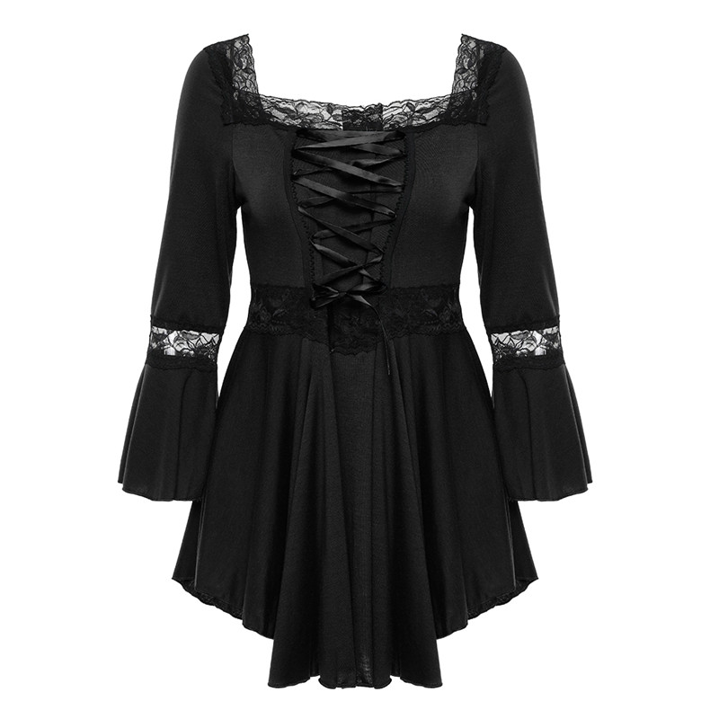 Retro Vintage Ladies Patchwork Lace Dress 2018 Summer Plus Size Ruffle Dresses For Women 4xl 5xl Gothic Party Dress Robes Femme
