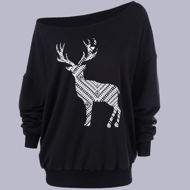 2018 Autumn Winter Women Sweaters And Pullovers Thick Warm Female Pull Christmas Sweater Women Jumpers Deer Printed