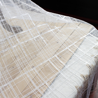 135cm Wide Quality Plaid Sequin Embroidery Lace Cloth Skirt Clothing Clothes Decoration DIY Fabric Wedding Dress Accessories