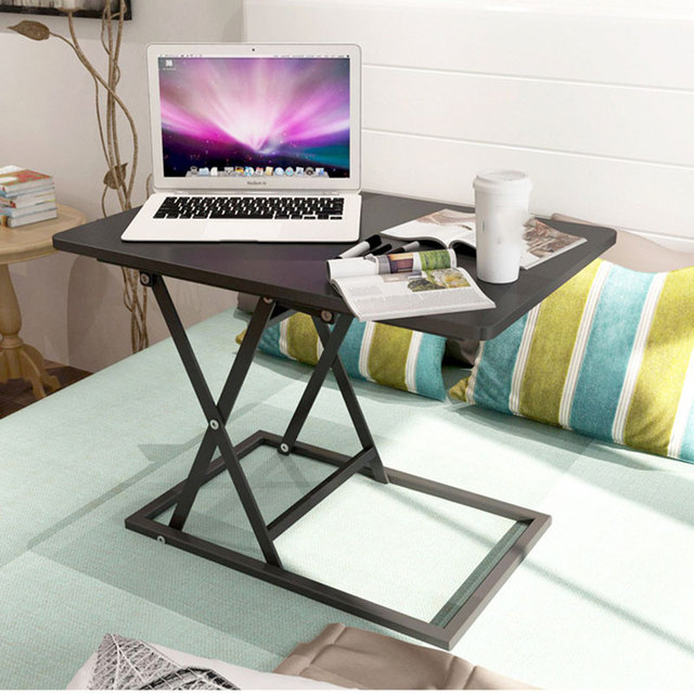 Standing Office Desk Lifting Laptop Table Home Studying Folding Mobile Workbench Portable Bed