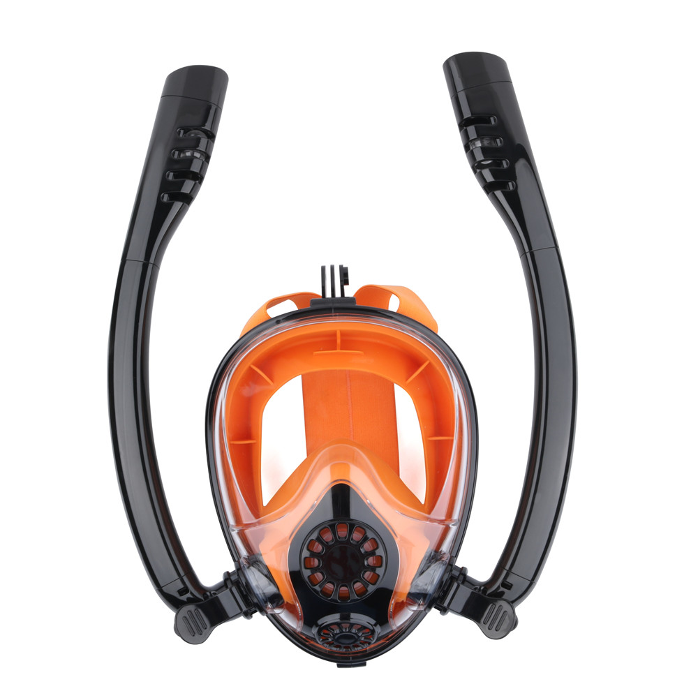 2019 Professional Diving Masks Underwater One way Circulating Breathing Diving Equipment Full Face Snorkeling Mask Water