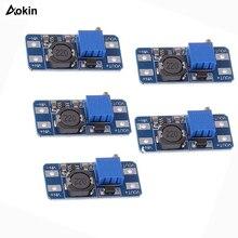 5 шт./лот MT3608 DC-DC повышающий усилитель конвертера модуль питания повышающий макс. выход 28 в 2A для Arduino