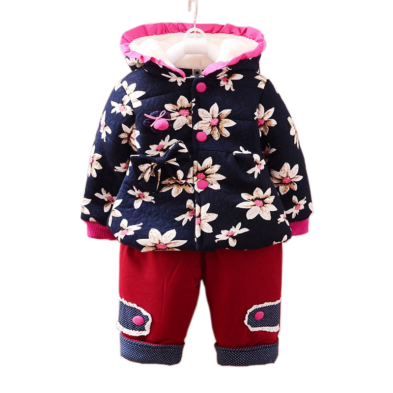 Kiqoo New Winter Kid s Long Sleeve 2 pcs Christmas Outfits Clothing Set Hooded Coat and