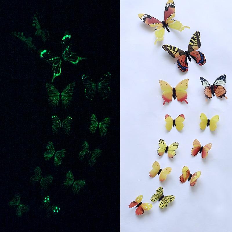 透明蝴蝶主图黄色夜光1