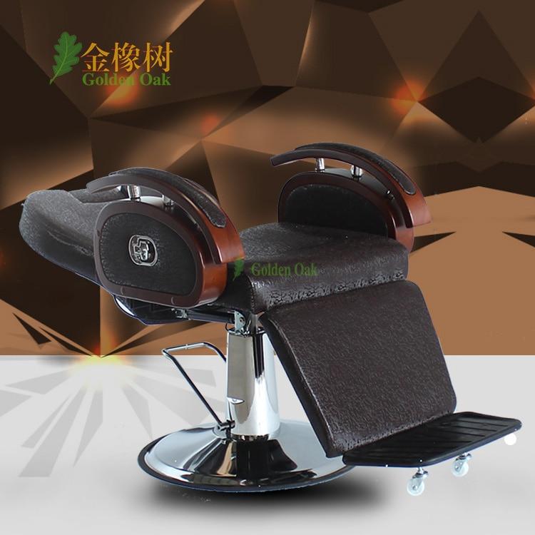 Frisørstol. Frisørstolen kan sættes ned. Barbering af - Møbel - Foto 2