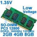 1,35 V de baja tensión Memoria DDR3 DDR3L Rams 1600 MHz 2 GB 4 GB 8 GB para portátil Sodimm Memoria con DDR 3 1333 de 1600 MHz 1066 MHz