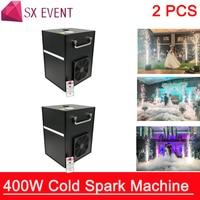 2pcs/lots Professional dmx stage cold spark fountain machine titanium powder fire machine for wedding spray 1 5m CE RoHS FCC