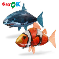 RC Air swimming fish toys drone RC shark clown fish balloons Nemo flying inflatable fish for kids toy