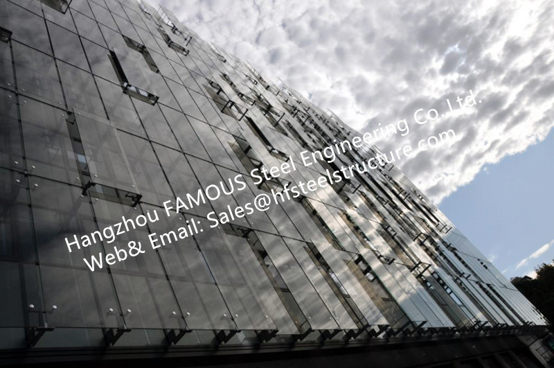 Double Glass Wall Ventilated Facade Office Building With Double Skin Glazed Curtain Wall