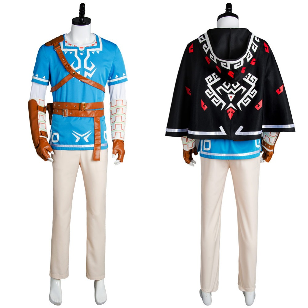 The Legend of Zelda Cosplay Breath of the Wild Link Cosplay Costume Full Suit Halloween Carnival Cosplay Costumes