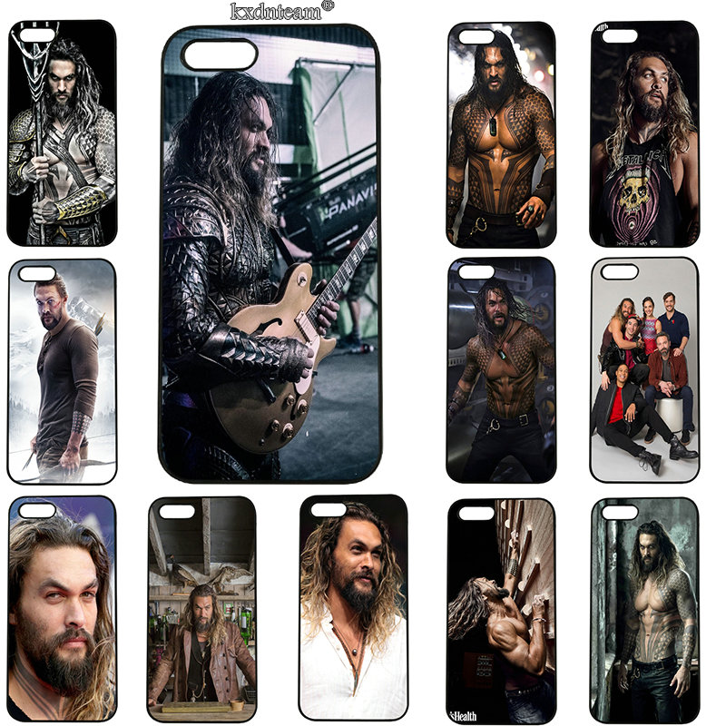 Handsome Man Jason Momoa Mobile Phone Case Hard PC Plastic Cover for iphone 8 7 6 6S Plus X 5S 5C 5 SE 4 4S iPod Touch 5 6 Shell