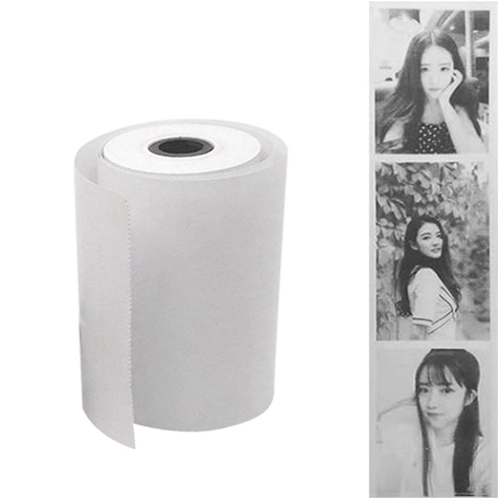 1 Roll Coreless Heat-sensitive Paper Canvas Mobile Pos Machine Paper 57x30mm Cash Register Paper Small Ticket Roll Paper