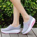 Summer Women Shoes Height Increasing Women Casual Shoes Women Swing Wedges Shoes,  Breather Air mesh Mujer Creepers sapatos