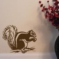 Hot Sale Chipmunk Wall Stickers Home Decor Vinyl Removable Retro Decorative Stickers Animals