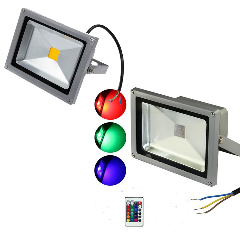 Outdoor led flood lights rgb white 100w 50w 30w 20w 10w for Focos led exterior 50w