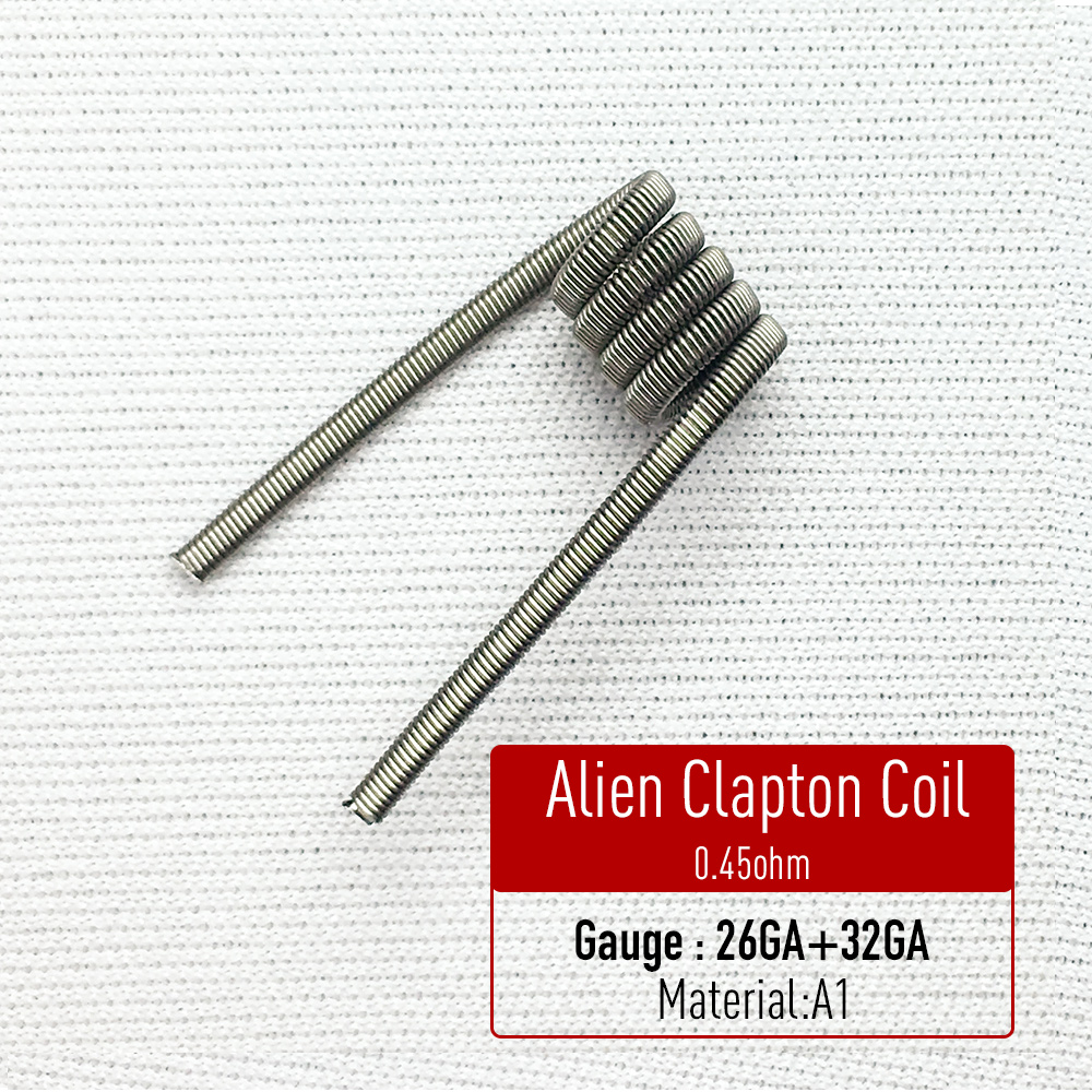 Volcanee 10pcs alien clapton coil flat twisted fused clapton quad volcanee 10pcs alien clapton coil flat twisted fused clapton quad tiger heating wire vape resistance premade coil prebuilt coil in electronic cigarette keyboard keysfo Choice Image