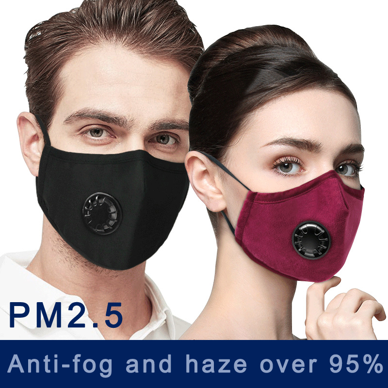 PM2.5 Anti Cotton Haze Mask Breathable Mouth Mask Activated Carbon Filter Respirator Mouth-muffle Mask Face Anti-fog Mask