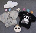 2016 AUTUMN WINTER KIDS panda BABY BOY CLOTHES BABY GIRL CLOTHES KIKIKIDS  hoodies panda too the moon pattern sweatshirts TOPS