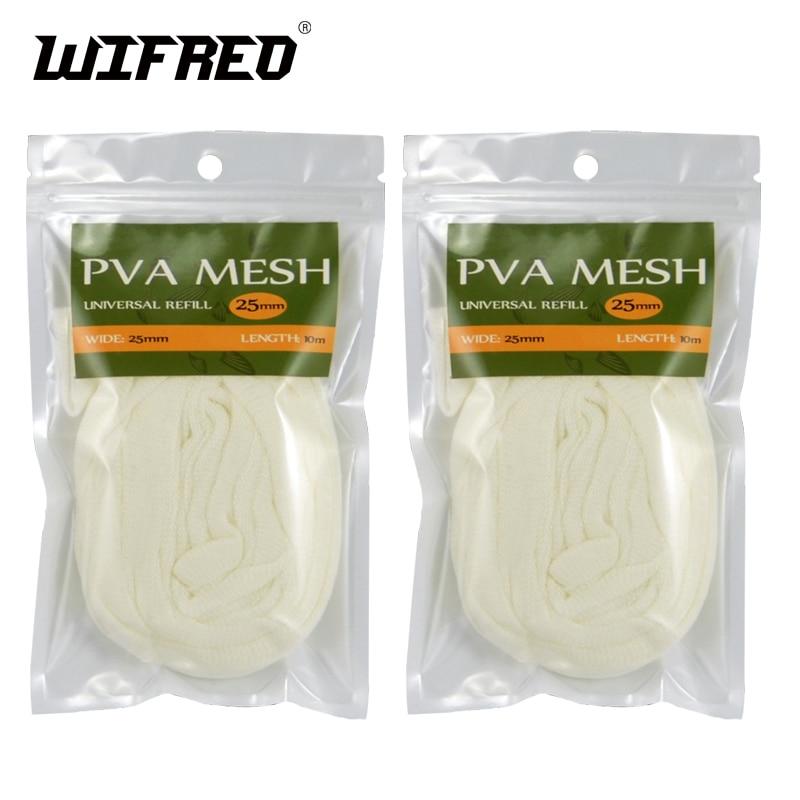 Wifreo 2 X 25MM X 10M Premium Universal PVA Mesh Refill Economy Bulk Package for Carp Fishing System Retail & Wholesale рулетка fit хард 10m x 25mm 17210